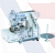 Juki Series MF-7500-C11 High-speed, Flat-bed, Top and Bottom Coverstitch Machine (collarette attaching)