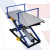 Rexel ST-3/BR Pneumatic Upholstery Lifting Table (with arms and stainless steel tabletop)